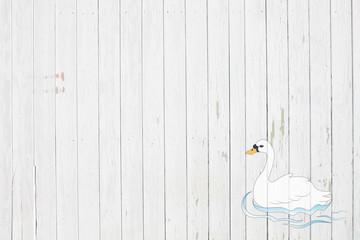 Wood white-swan