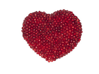 Heart from grains of a pomegranate