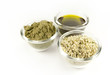 hemp products: oil, powder, seeds