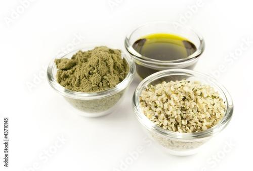 Plexiglas Granen hemp products: oil, powder, seeds