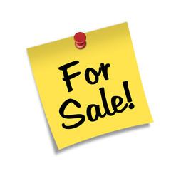 Post-it 3d con chincheta con texto For Sale!