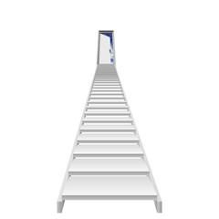 High resolution conceptual 3d stair, opened door