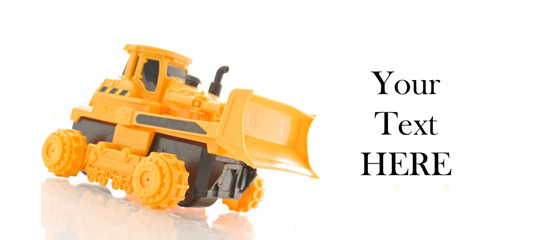 Bulldozer Toy Truck with Space for Custom Text