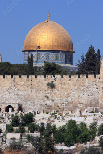 View of the Dome of the Rock in Jerusalem