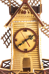 old mill made of wood with the saw
