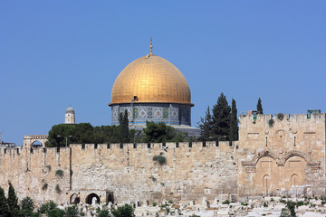 View of the Dom of the Rock in Jerusalem