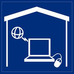 Schild - Internetzugang