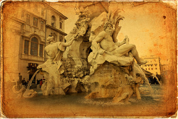 Fountain of Four Rivers - Piazza Navona, Rome