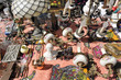 Various antiques and lamps for sale at Aachen flea market
