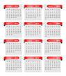 calendar, red paper tag