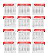 calendar, red paper tag