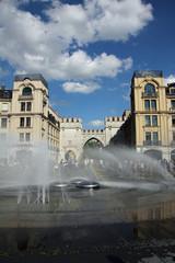 Karlsplatz München mit Brunnen