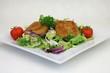 Gouda gebacken mit Salat