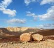 Huge boulders along highway