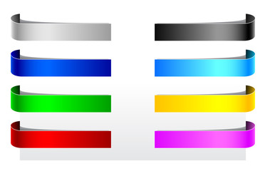 colored paper labels, tag