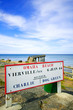 Omaha Beach World War Normandy location signboard Vierville sur