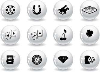 Web buttons, Las Vegas icons