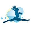 Gymnast Jumping