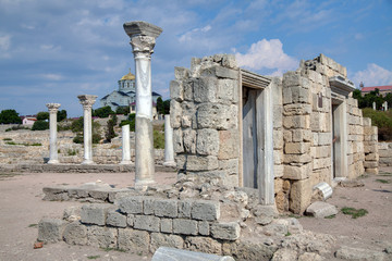 Ruins of ancient Greek colony Khersones, Sevastopol