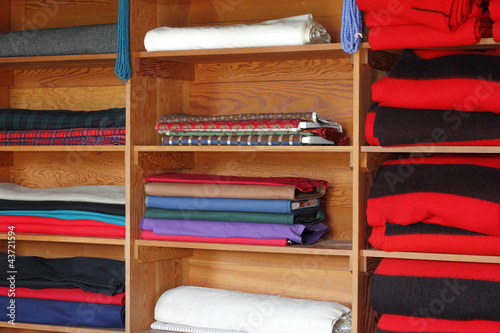 Textiles on Shelves