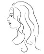 Vector illustration of beauty smiled woman