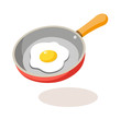 vector icon frying pan