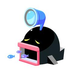 vector icon aquarium