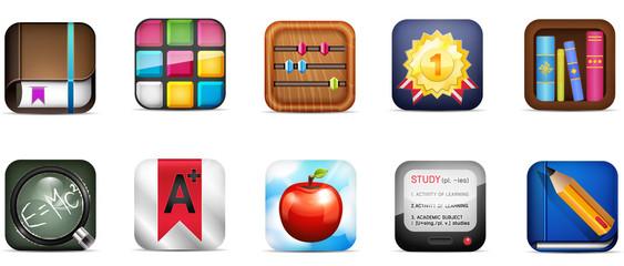 Mobile Icon set of diverse concept