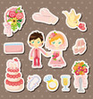 cartoon wedding stickers