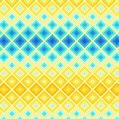 Colorful ethnic mosaic seamless background, vector