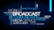 Broadcast communication network word tag cloud video