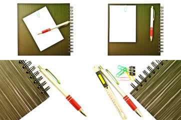 Set of Notebook isolated on the white background.