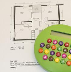 Taschenrechner Plan Wohnung
