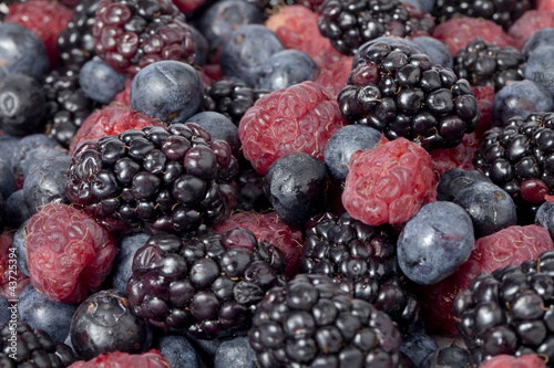 blueberries blackberries and raspberry fruits