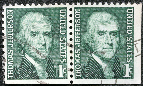 USA - 1965: shows President Thomas Jefferson (1801-1809), series