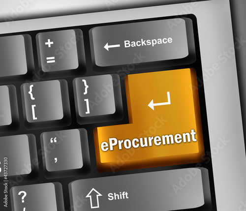 "Keyboard Illustration ""eProcurement"""