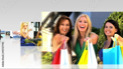 Montage 3D tablet  images female shopping
