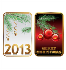 Christmas & new year celebration background