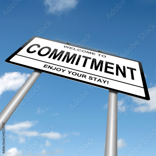 poster of Commitment concept.