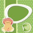 baby shower bear - pois - place your text