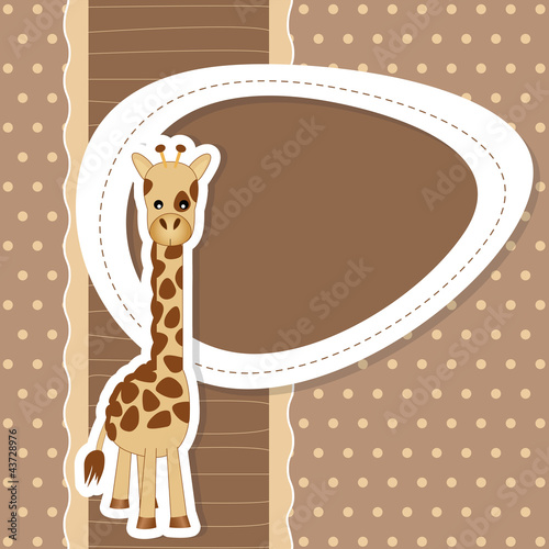 baby shower giraffe - pois - place your text