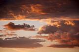 Fototapeta chmura - chmura - Zachód / Wschód Słońca