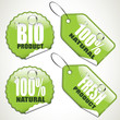 Set of bio stickers and tags