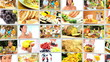 Montage 3D video wall  images of healthy eating