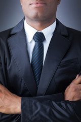 African American closeup businessman suit