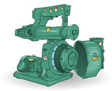 Industrial Machine Illustration poster