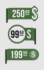 Modern price tag – dollar
