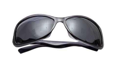 Women black sunglasses isolated on white