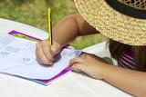 Fototapety niña dibujando