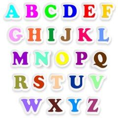 Alfabeto Lettere Maiuscolo Stickers Alphabet Letters Uppercase